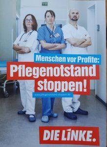 DIE LINKE vor dem Klinikum Kassel am Tag der Pflege