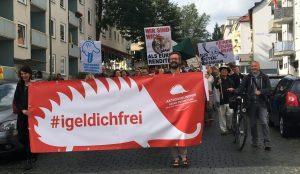 Protest des Aktionsbündnisses gegen Entmietung im Vorderen Westen