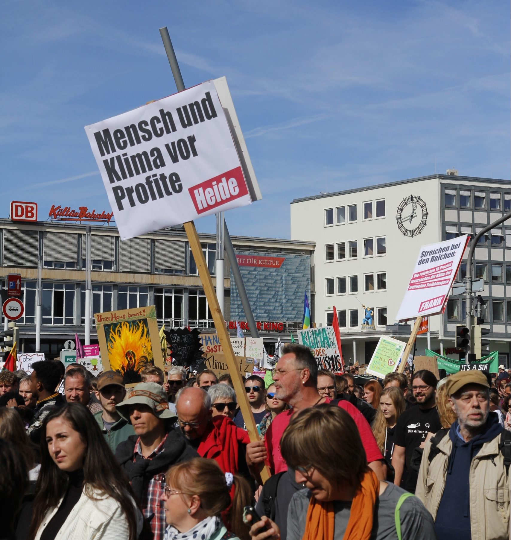 "Fridays for Future"" Demo am 20. September in Kassel."